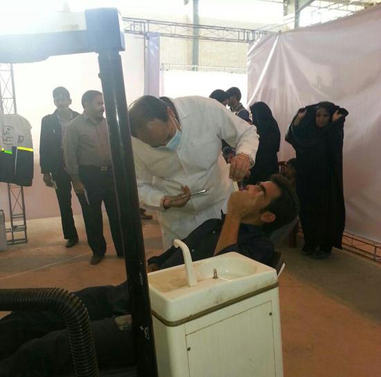 ویزیت رایگان بیش از ۳ هزار نفر در بیمارستان صحرایی عرب آباد رفسنجان-خانه خشتی (۲)