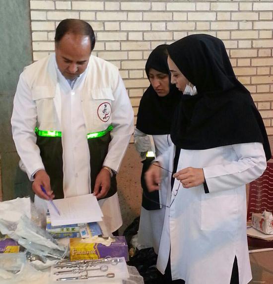 ویزیت رایگان بیش از ۳ هزار نفر در بیمارستان صحرایی عرب آباد رفسنجان-خانه خشتی (۵)