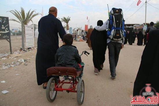 پیاده روی اربعین از نجف تا کربلا خانه خشتی رفسنجان (۱۹)