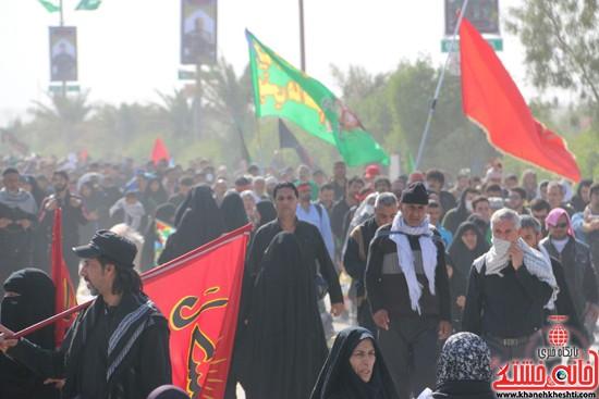 پیاده روی اربعین از نجف تا کربلا خانه خشتی رفسنجان (۲۱)