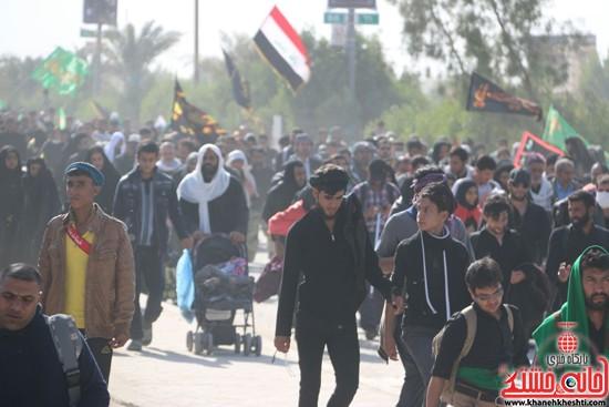 پیاده روی اربعین از نجف تا کربلا خانه خشتی رفسنجان (۲۳)