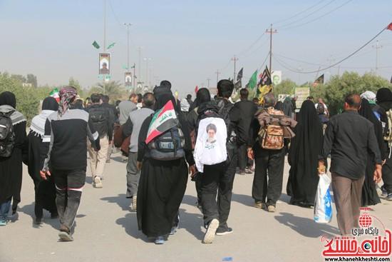 پیاده روی اربعین از نجف تا کربلا خانه خشتی رفسنجان (۲۵)