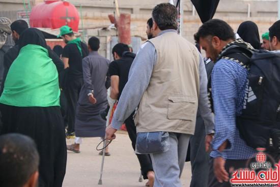 پیاده روی اربعین از نجف تا کربلا خانه خشتی رفسنجان (۳)