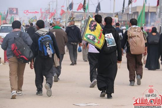 پیاده روی اربعین از نجف تا کربلا خانه خشتی رفسنجان (۸)