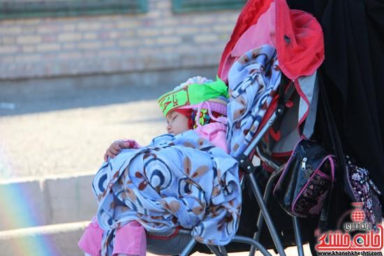 پیاده روی اربعین حسینی با حضور کاروان رهپویان کربلا در رفسنجان (۴)