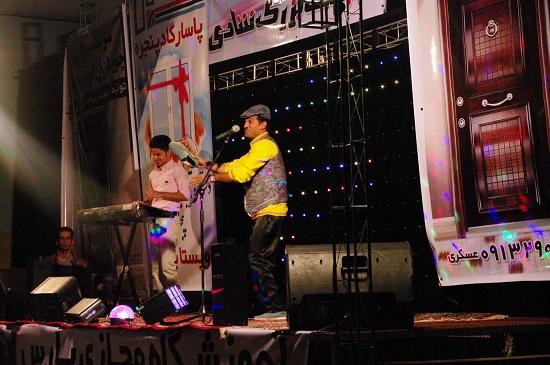 اجرای جنگ شادی در رفسنجان / عکس