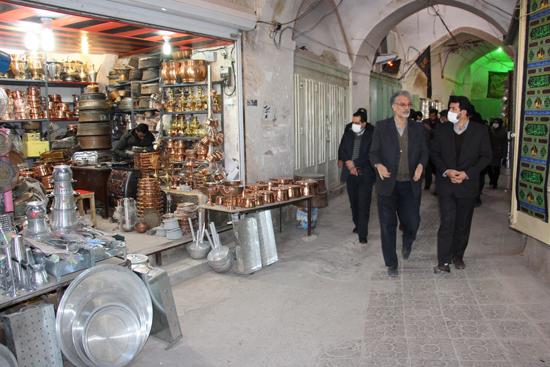 بازار تاریخی شهر رفسنجان درحال مرمت است/تصاویر