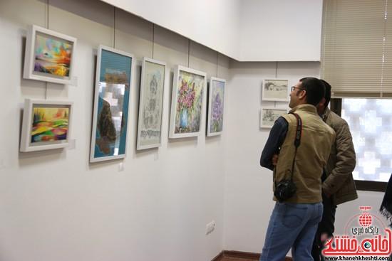 افتتاح نمایشگاه «از فاصله ها۳»/ هنرمندان کشوری و بین المللی میهمان رفسنجان شدند/تصاویر