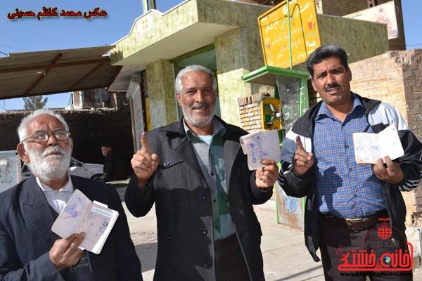 حماسه حضور مردم هرمزآباد در انتخابات ۷ اسفند/تصاویر