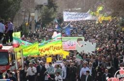 راهپیمایی ۲۲ بهمن در رفسنجان آغاز شد