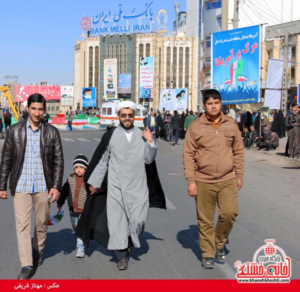راهپیمایی ۲۲ بهمن ۹۴ رفسنجان -خانه خشتی (۴)