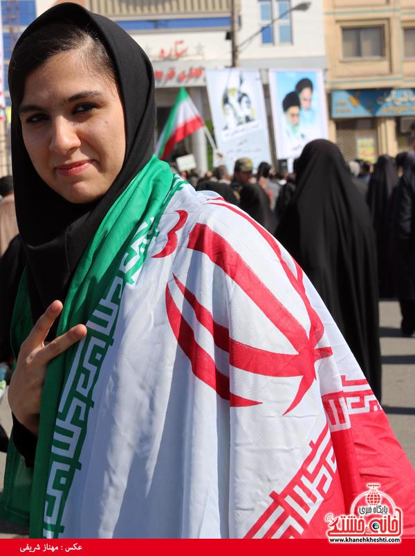 راهپیمایی ۲۲ بهمن ۹۴ رفسنجان -خانه خشتی (۴۲)