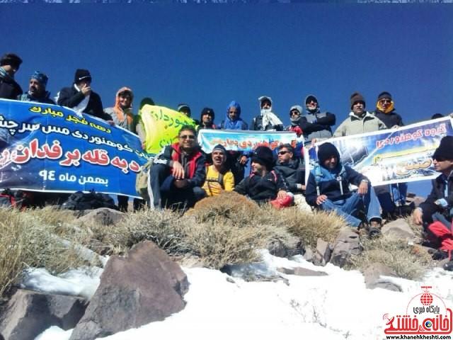 صعود مشترک به قله برفدون راویز رفسنجان_خانه خشتی (۳)
