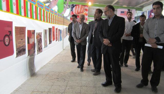 آذین از نمایشگاه دانش آموزی «مدرسه انقلاب» هنرستان امام رضا (ع) بازدید کرد + عکس