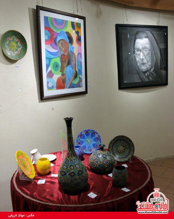 نمایشگاه گروهی نقاشی و صنایع دستی-رفسنجان-خانه خشتی (۱)