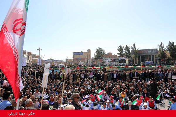 تصاویر حضور مردم رفسنجان در جشن سی و هفت سالگی انقلاب اسلامی