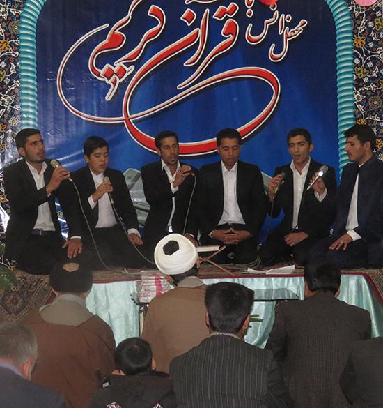 محفل انس با قرآن کریم در روستای قاسم آباد رفسنجان برگزار شد / تصاویر