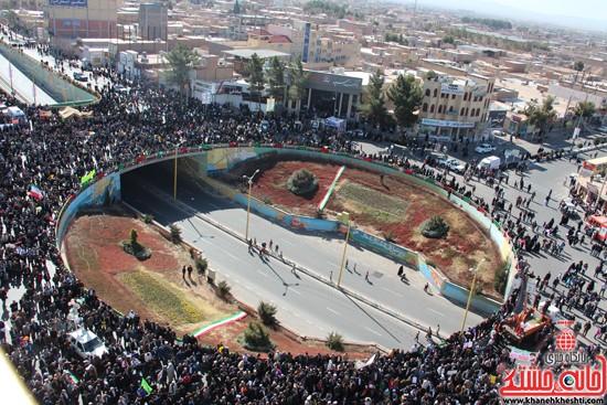 گردهمایی مدافعین انقلاب در میدان شهداء رفسنجان/ برجام هم نتوانست شعار «مرگ بر آمریکا» را از زبان مردم حذف کند