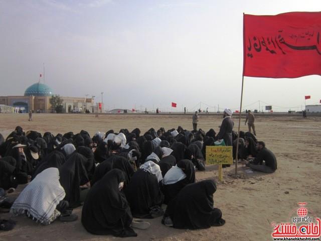 بازدید دانشجویان دختر بسیجی از مناطق عملیاتی جنوب_خانه خشتی_رفسنجان_ بهناز شریفی (۱۹)