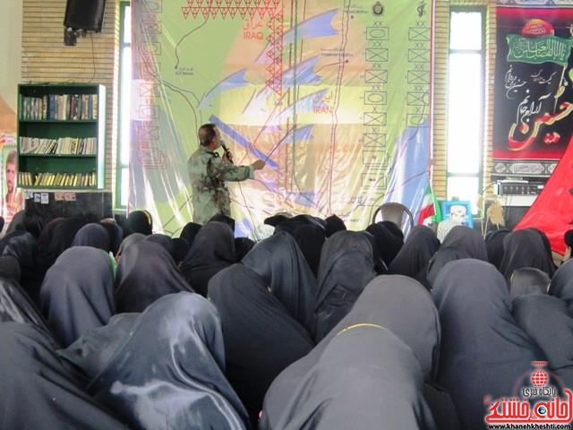 بازدید دانشجویان دختر بسیجی از مناطق عملیاتی جنوب_خانه خشتی_رفسنجان_ بهناز شریفی (۳۶)