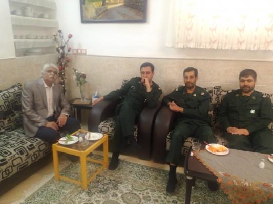 دیدار جمعی از پرسنل سپاه رفسنجان با جانبار دفاع مقدس