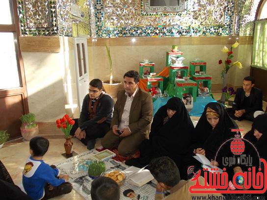 لحظه تحویل سال جدید در جوار قبور مطهر شهید گمنام و شهدای جوادیه فلاح/ عکس