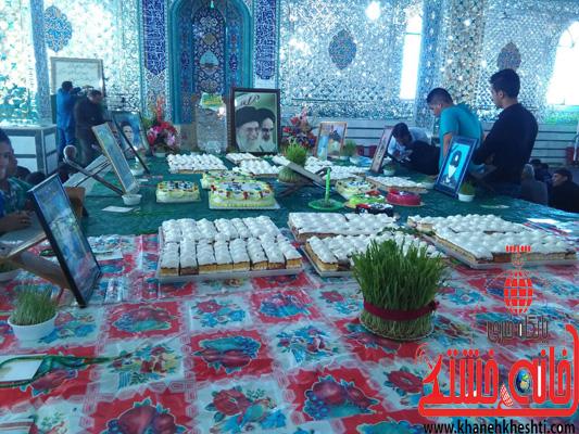 لحظه تحویل سال نو در مهدیه اسماعیل آباد نوق/ عکس