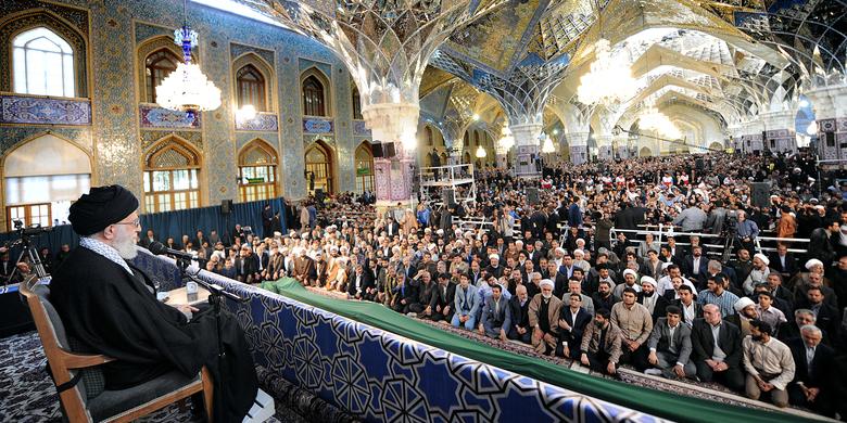 بیانات مهم رهبر معظم انقلاب اسلامی در اجتماع زائران و مجاوران حرم رضوی