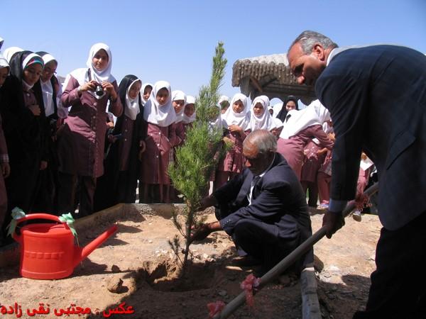 برگزاری مراسم روز درختکاری در مدارس بخش نوق با حضور مسئولین