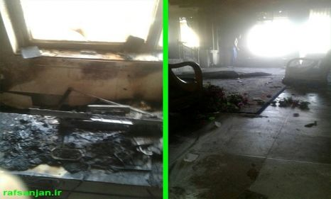 مهار آتش سوزی دو واحد مسکونی در رفسنجان توسط آتش نشانان