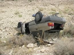 واژگونی پراید مرگ راننده آن را رقم زد
