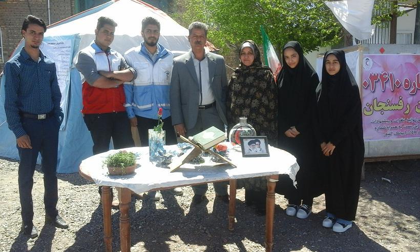 اولین مسافر نوروزی که به رفسنجان آمد / عکس