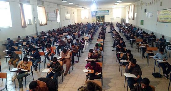 آزمون ورودی طرح آیه های تمدن در رفسنجان برگزار شد
