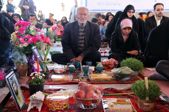 تصاویر/  مراسم تحویل سال جدید در جوار قبور شهدا رفسنجان