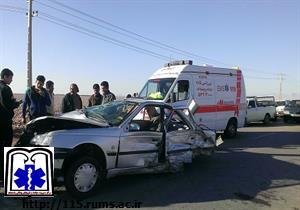 واژگونی سواری سمند در محور رفسنجان-انار ۲ کشته برجای گذاشت