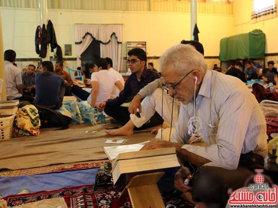 آیین اعتکاف در مسجدالنبیرفسنجان