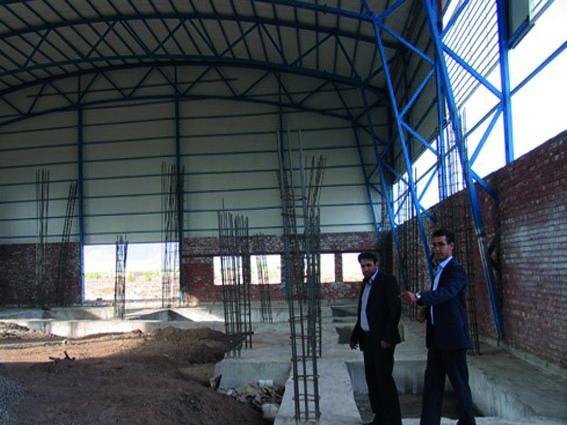 بازدید رئیس اداره ورزش و جوانان شهرستان رفسنجان از پروژه های ورزشی بخش فردوس