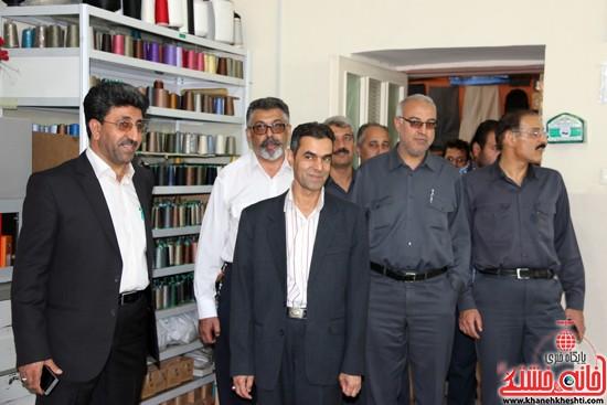 بازدید مدیر عامل مس منطقه کرمان و معاونین از کارگاه خیاطی موسسه خیرین گمنام رفسنجان