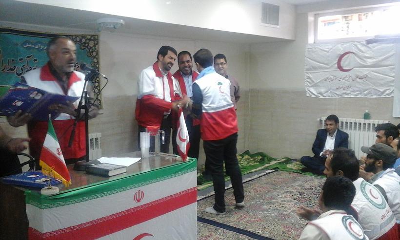 امدادگران جمعیت هلال احمر رفسنجان تجلیل شدند / عکس
