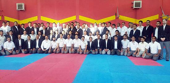 ارتقاء درجه داوران کاراته انجمن شوتوکان jks شهرستان رفسنجان
