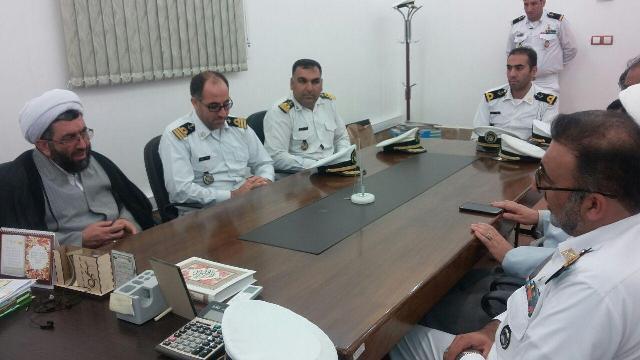 دیدار فرماندهی آمادگاه ناوگان جنوب نداجا/سیرجان با امام جمعه رفسنجان