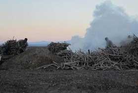 کوره های تولید زغال در حریم جاده ارتباطی رفسنجان- انار تخریب شدند