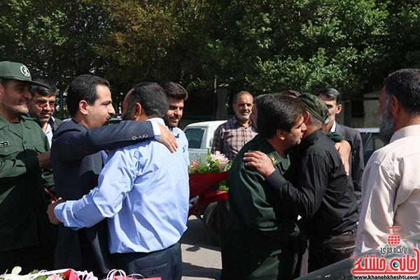 استقبال از شش مدافع حرم حضرت زینب در رفسنجان