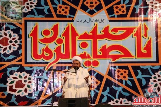 حجت الاسلام نظری در جشن بزرگ شعبان در تکیه عاشقان ابوالفضل(ع)رفسنجان