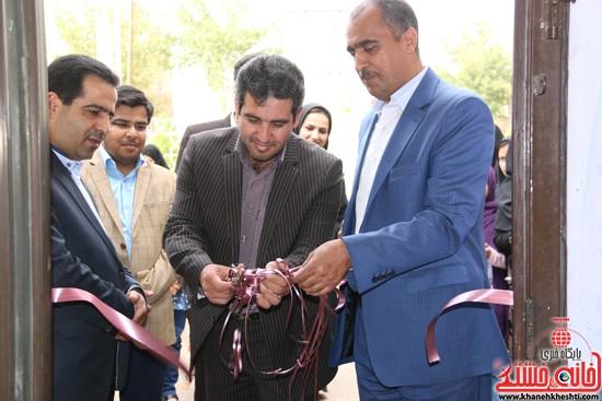 افتتاح نمایشگاه تخصصی پارچه و لباس دانشگاه مفاخر با حضور معاون فرماندار و رئیس اداره ارشاد رفسنجان