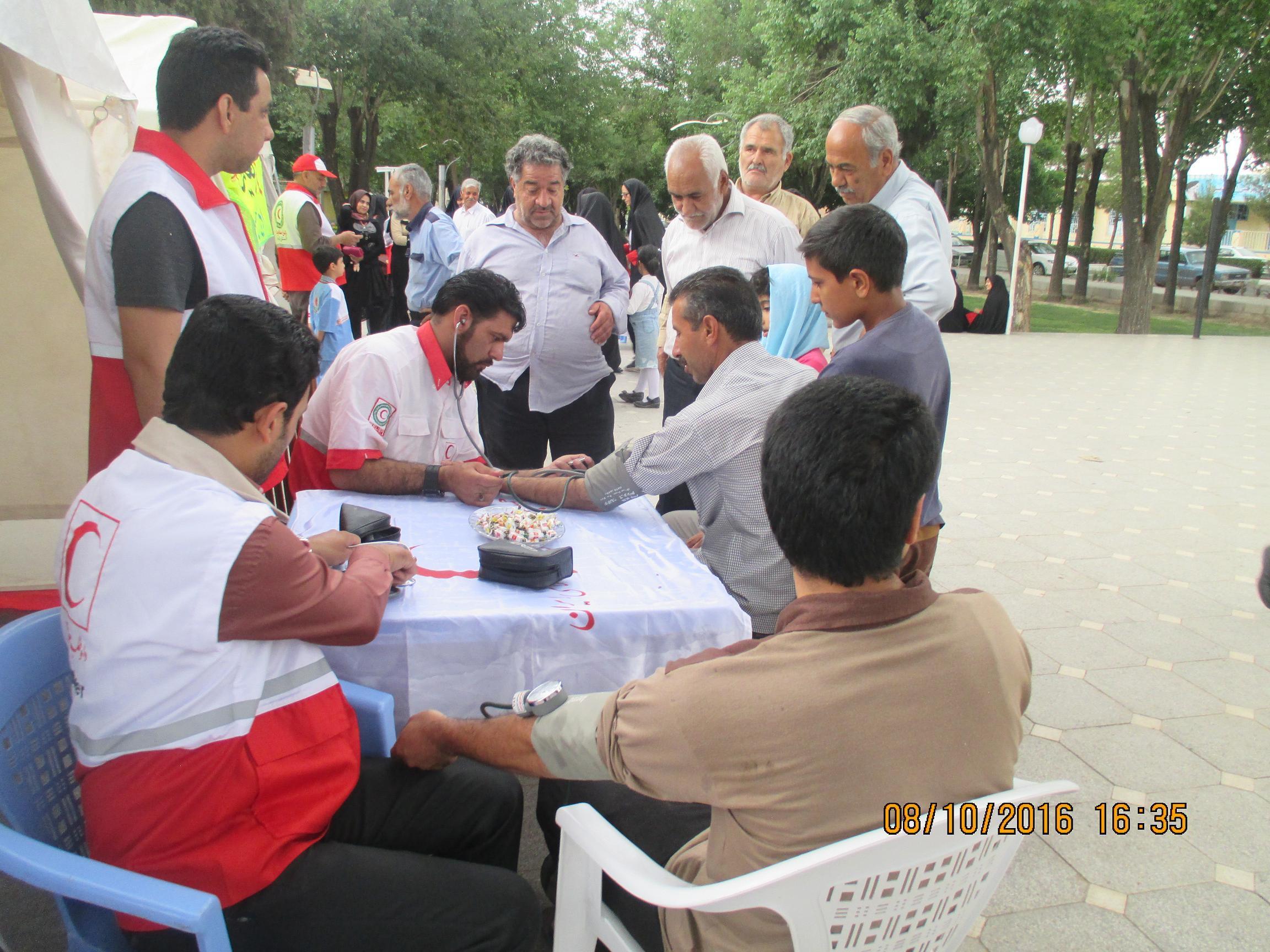 اجرای طرح همراهان مهربانی با حضور امدادگران ، جوانان وداوطلبان جمعیت هلال احمر رفسنجان
