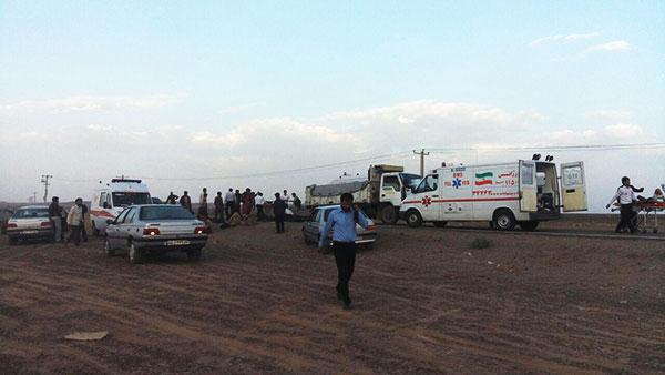 کشته و زخمی شدن ۱۸ نفر در حادثه شب گذشته پاسگاه جوادیه فلاح / عکس
