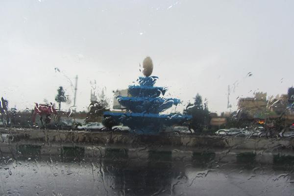 هوای امروز رفسنجان بارانی است / عکس