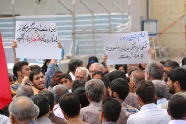 تجمع بزرگ مردمی در رفسنجان در پی دهن کجی فتنه گران به مقدسات / تصاویر