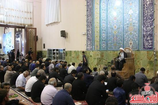سخنرانی حجت الاسلام نجفی در مراسم احیای شب 21ماه مبارک رمضان با حضور مردم مومن و خداجوی درمسجد جامعشهرستان رفسنجان